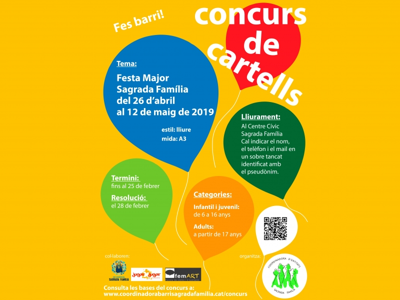 Concurso de carteles  Festa Major Sagrada Familia 2019